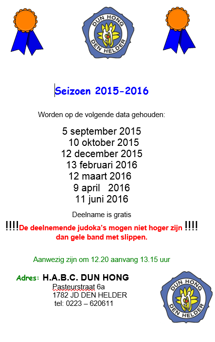Vaantjestoernooi @ H.A.B.C. Dun Hong | Den Helder | Noord-Holland | Nederland