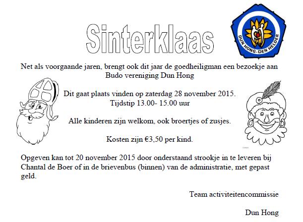 Sinterklaasfeest 2015 @ H.A.B.C. Dun Hong | Den Helder | Noord-Holland | Nederland