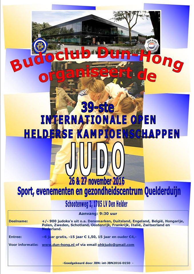 39e Open Helderse Judo Kampioenschappen (OHK) 2016