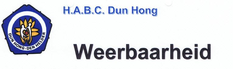 Weerbaarheid @ H.A.B.C. Dun Hong | Den Helder | Noord-Holland | Nederland