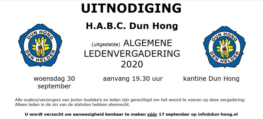Algemene Leden Vergadering @ Kantine H.A.B.C. Dun Hong